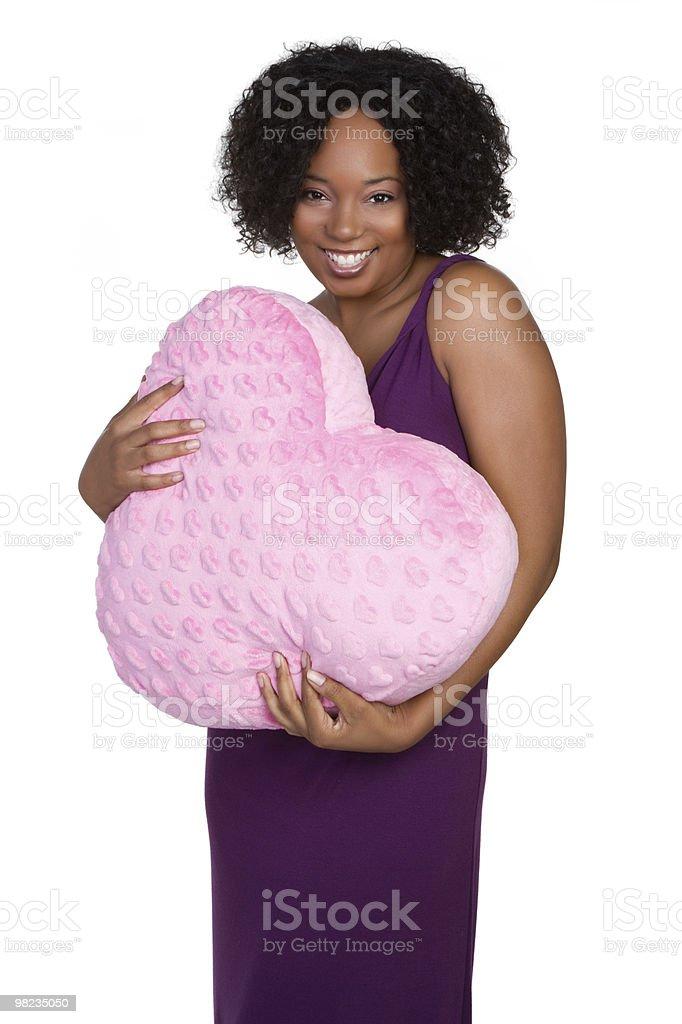 Woman Holding Heart royalty-free stock photo