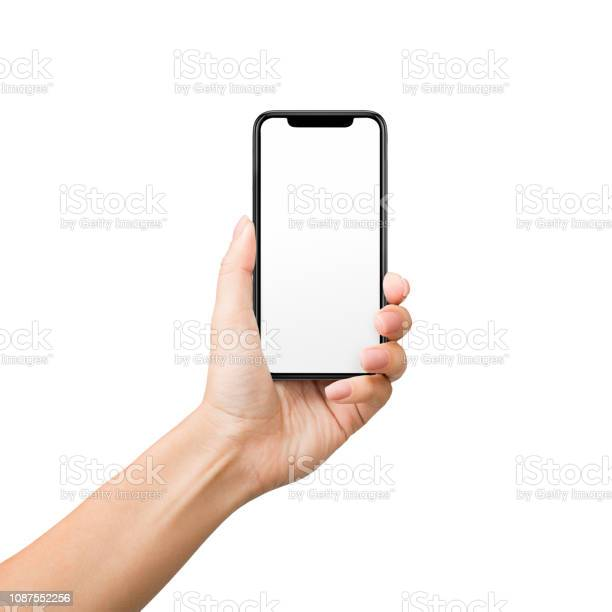Woman holding mobile phone with blank screen on white background picture id1087552256?b=1&k=6&m=1087552256&s=612x612&h=utukdifauocooazhhj2rn edq5m15r1eork72tp5 jw=