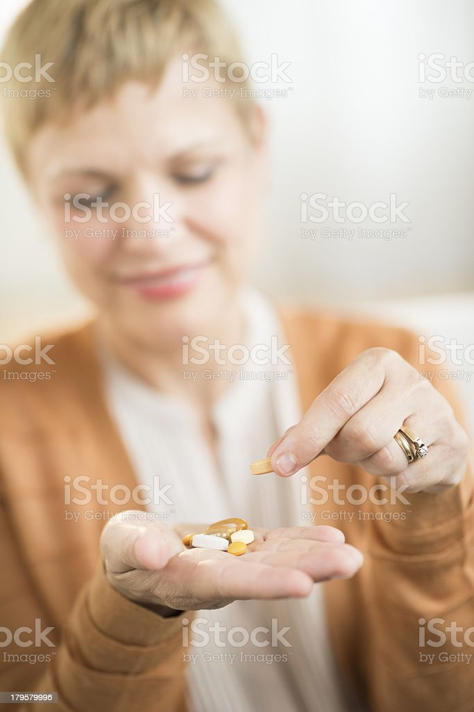 Woman Holding Prescription Medicine royalty-free stock photo
