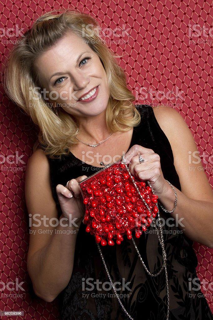 Donna con una borsetta foto stock royalty-free
