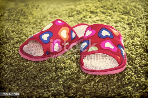 955947208 istock photo woman house slippers 899923708