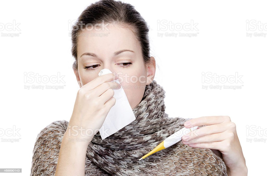 Woman illness stock photo