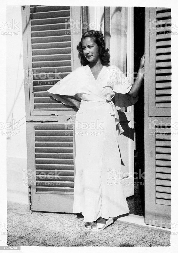Woman  in 1935 stock photo