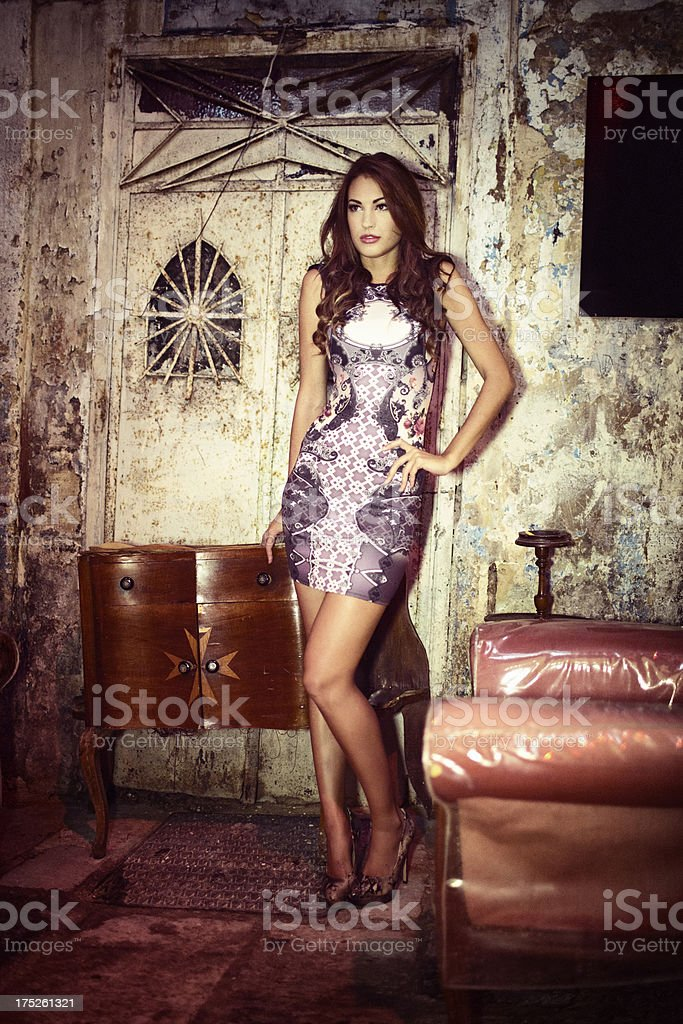 Woman in a bar royalty-free stock photo