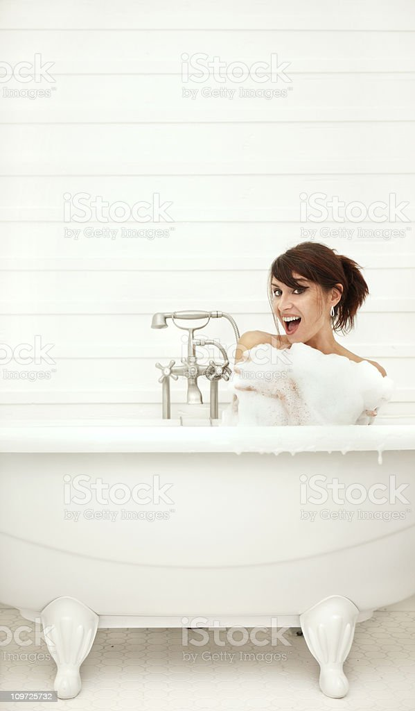 Woman in a Bath royalty-free stock photo
