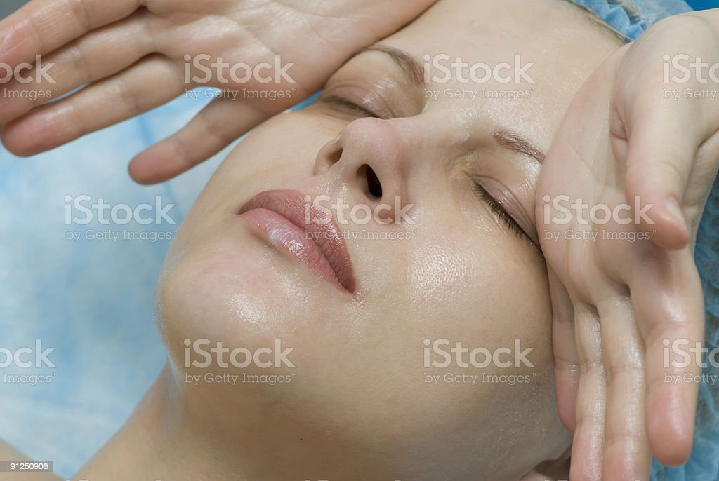 Woman in a beauty salon royalty-free stock photo