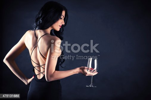 istock woman in a black dress 475131685