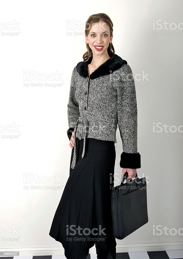 Frau in einem business-Anzug Lizenzfreies stock-foto