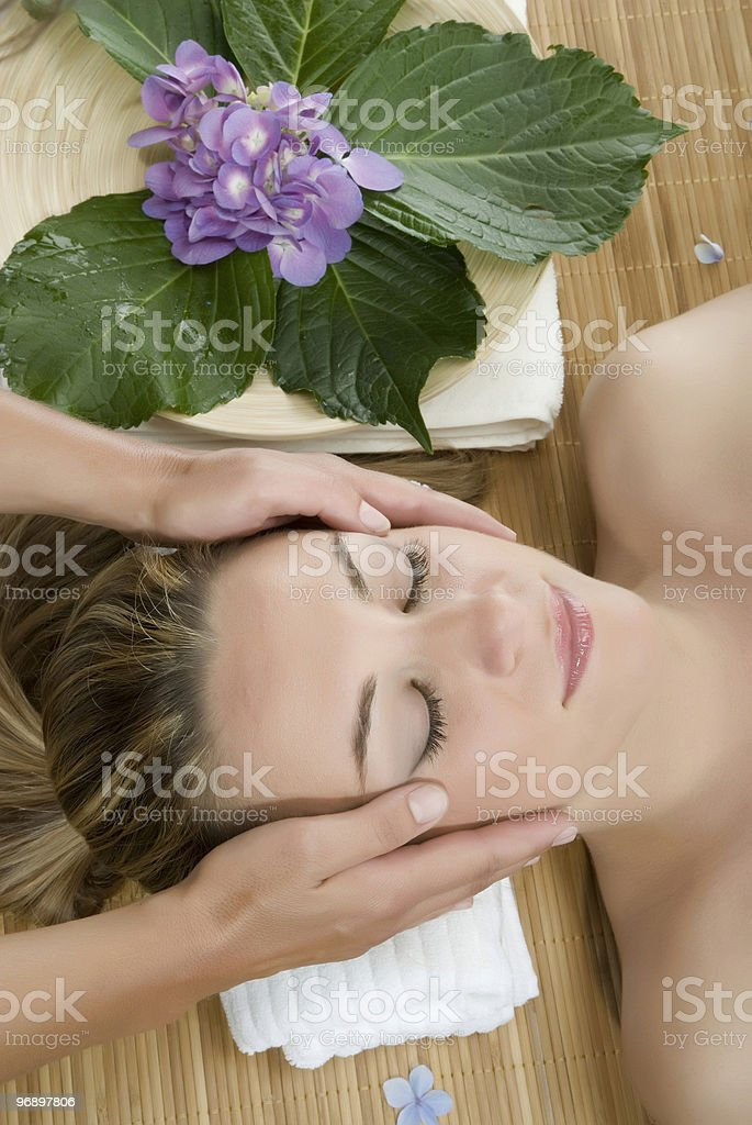 Woman in a day spa royalty-free stock photo