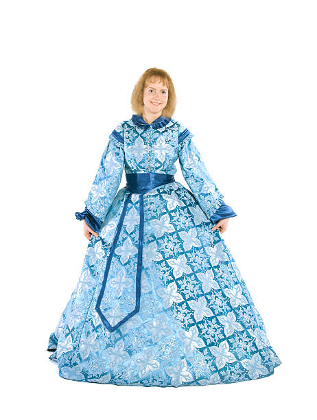 woman in a fancydress - petticoat stock pictures, royalty-free photos & images