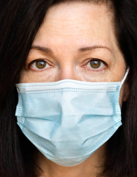 Woman in a Medical Mask stock photo