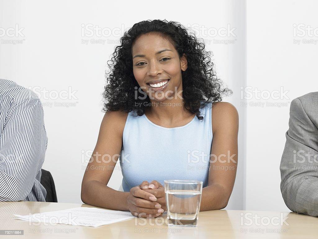 Mulher em uma reunião foto de stock royalty-free