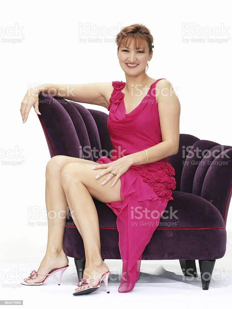 Woman in a pink dress - Royalty-free Absence Stock Photo