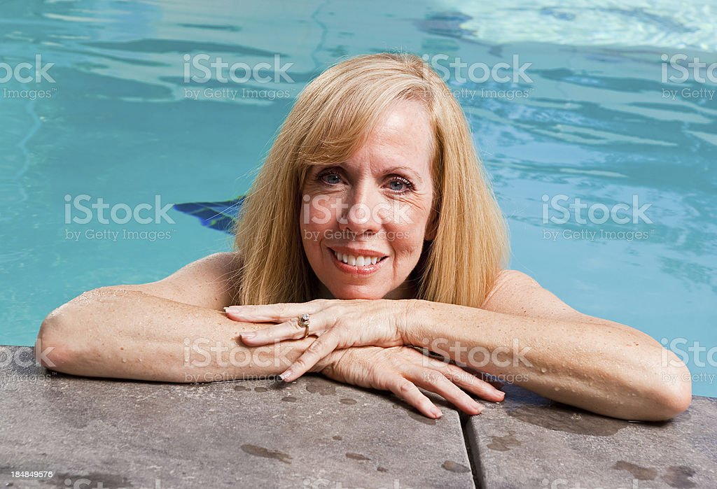 Woman in a Pool royalty-free stock photo
