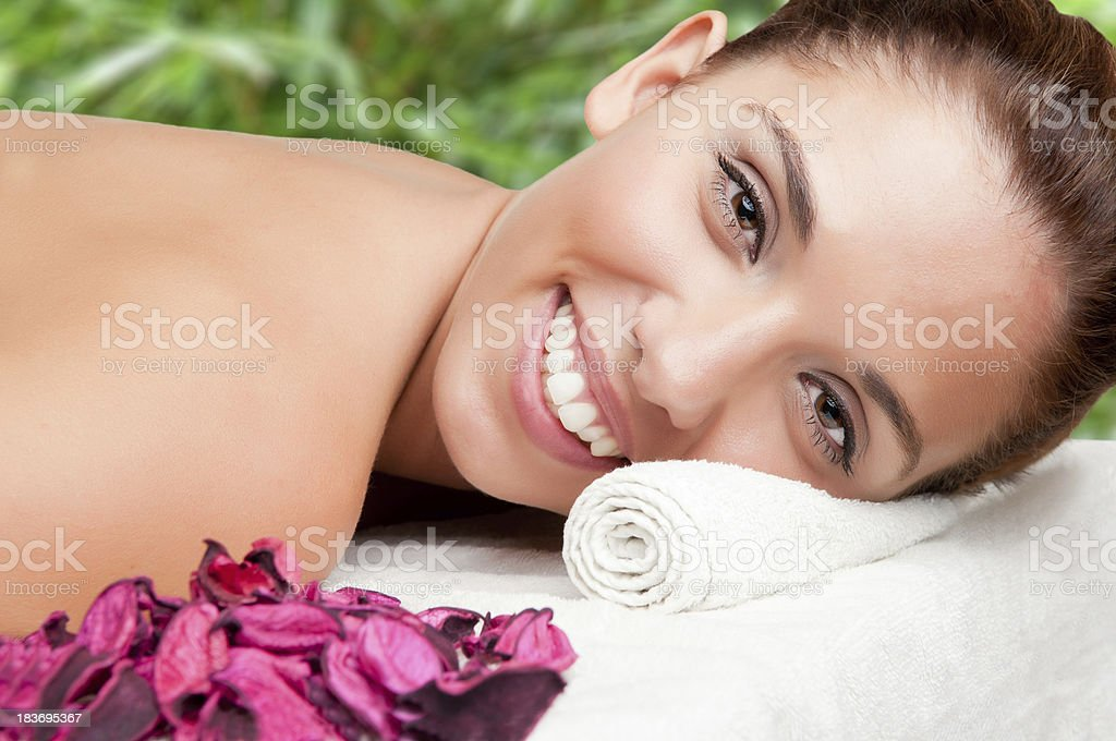 Woman in a Spa royalty-free stock photo