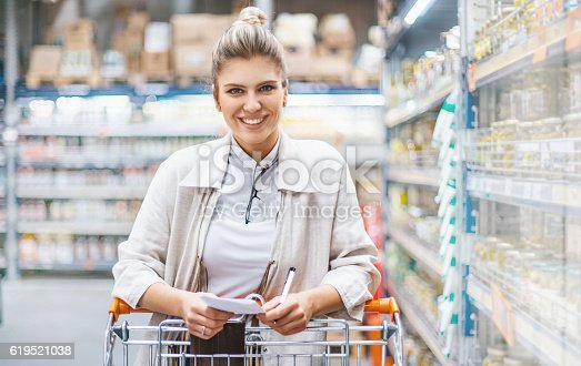 a visit to a supermarket near u The use of at or in are the same with supermarket as they are with theater, restaurant, stadium, etc i would use a to ask something like can you tell me where there's a supermarket in town i need to pick up some groceries.