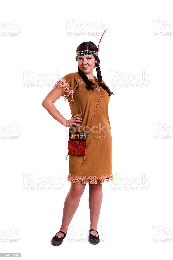 Fotografia De Mujer En Un Disfraz De Indio Americano Y Mas Banco De - Disfraz-india-americana