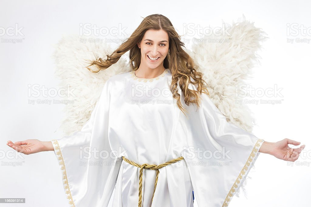 Woman in angel costume royalty-free stock photo