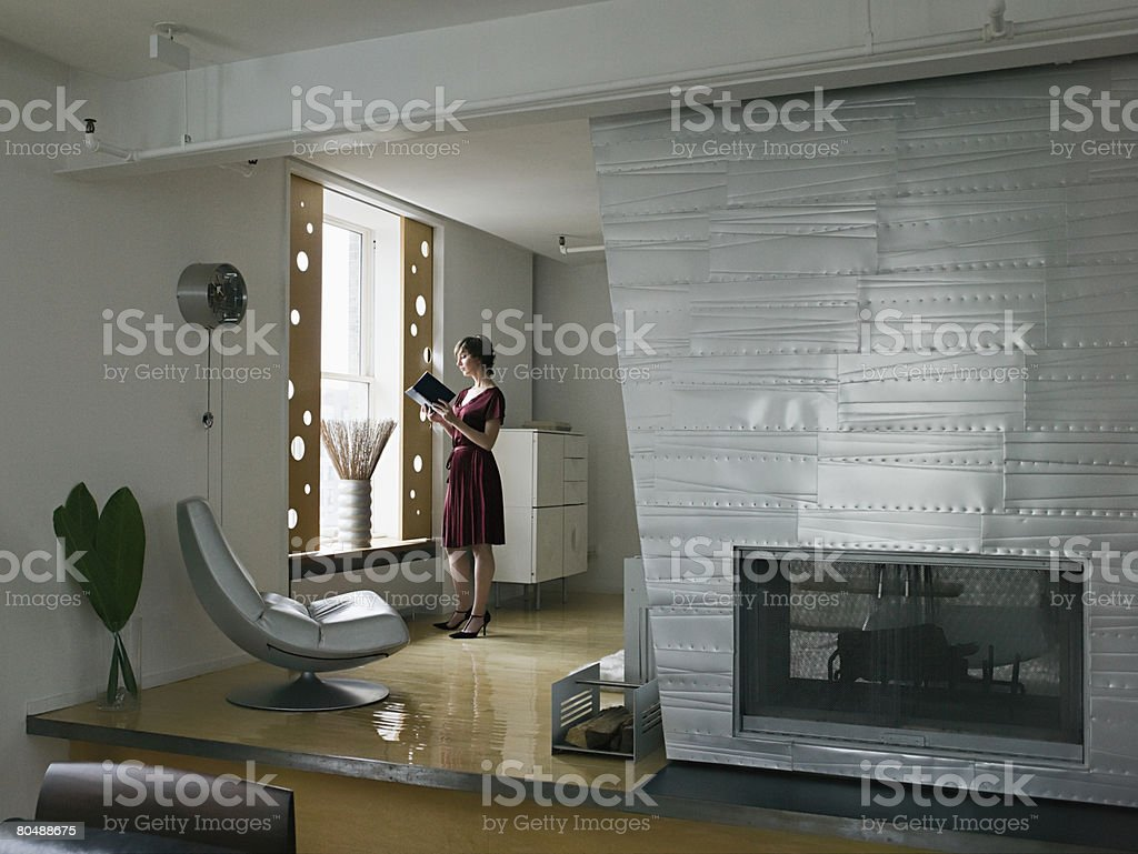 Woman in apartment 免版稅 stock photo