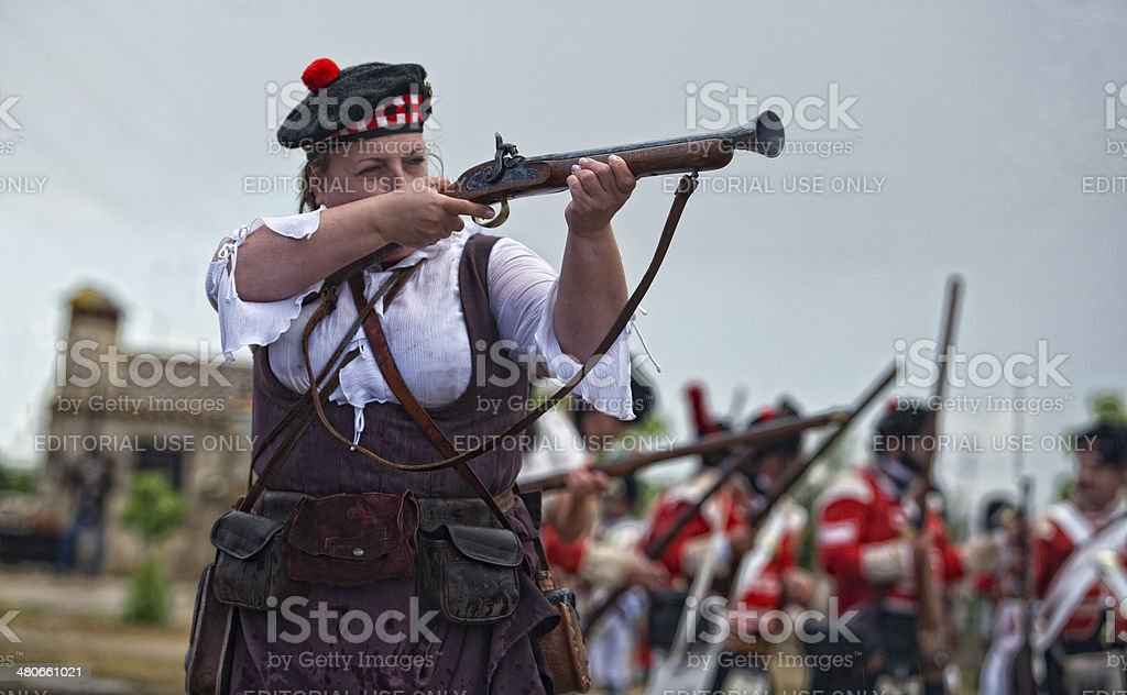 Woman in arms royalty-free stock photo