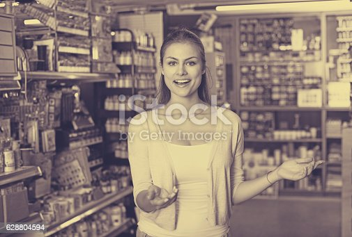 594918592 istock photo woman in art supplies store 628804594