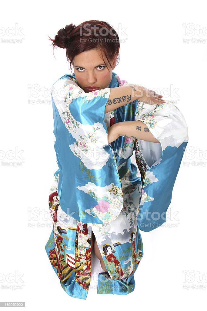 Woman in Asian Traditional Garment royalty-free stock photo