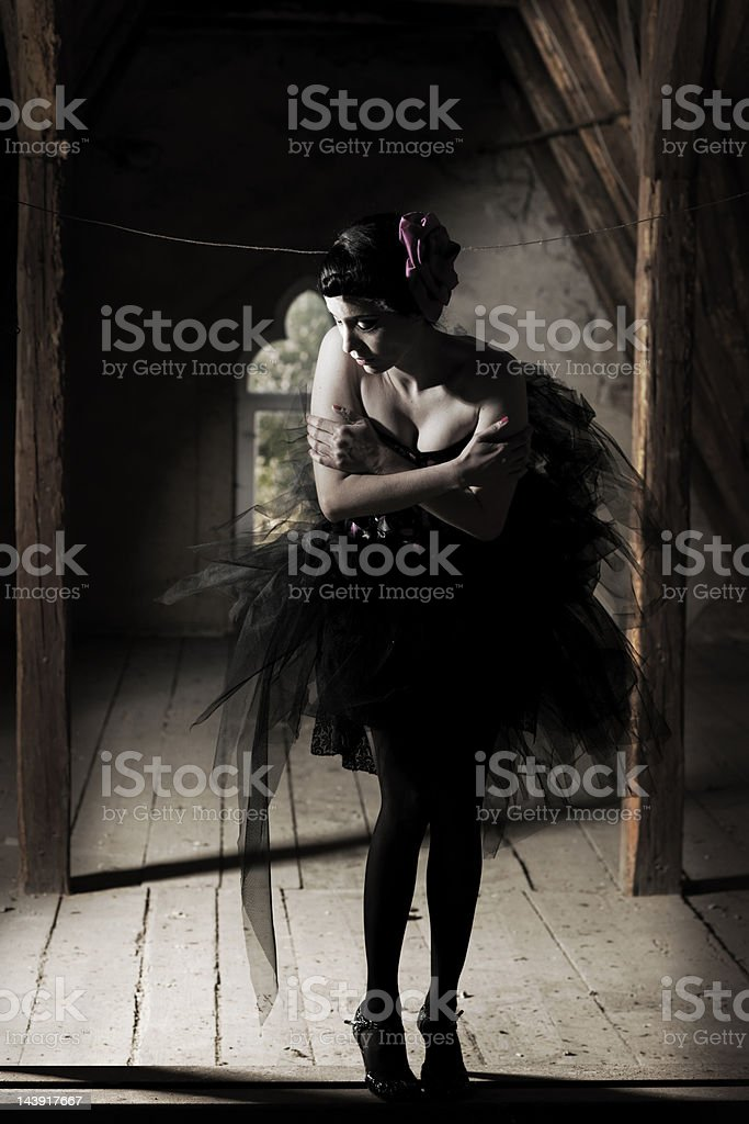 Woman in ballet dress royalty-free stock photo