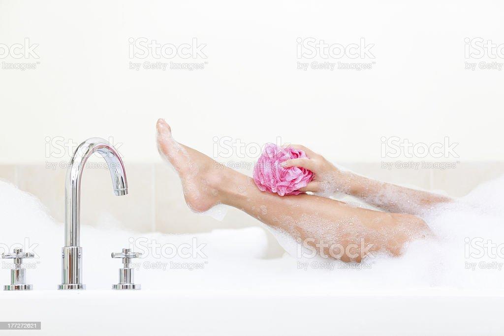 Woman in bath royalty-free stock photo