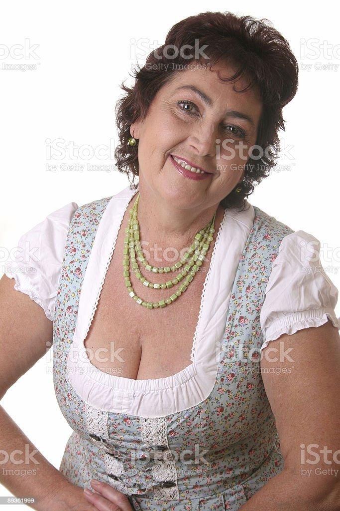 woman in bavarian tracht royaltyfri bildbanksbilder