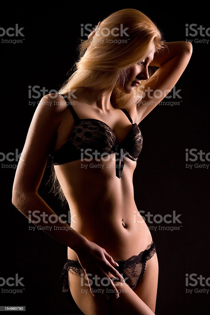 Woman in beautiful lingerie stock photo