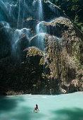 Beautiful waterfall in Cebu, Philippines