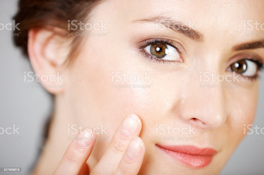 Woman in beauty style pose royalty-free stock photo