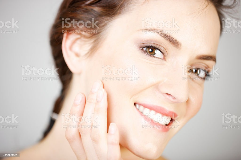 Woman in beauty style pose stock photo
