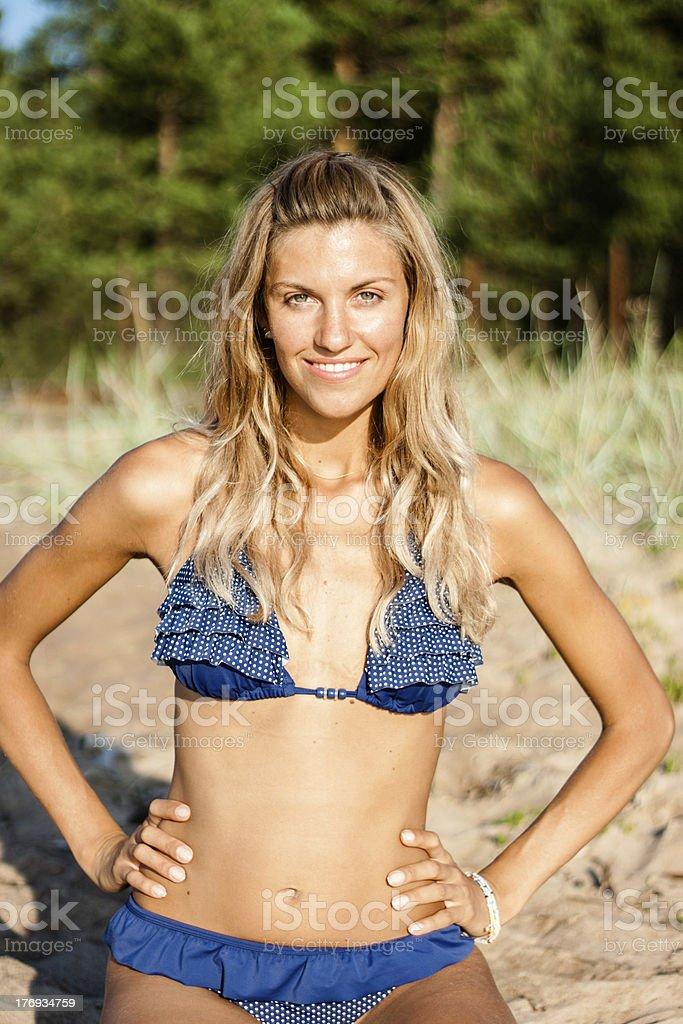 Woman in bikini royalty-free stock photo