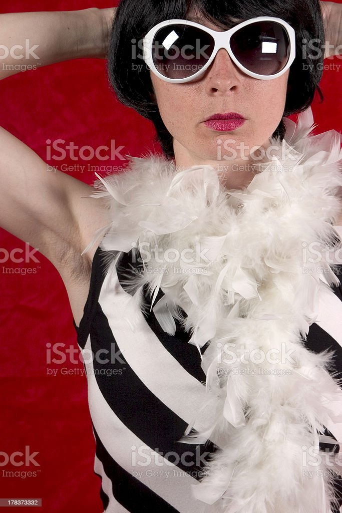 woman in black and white royalty-free stock photo