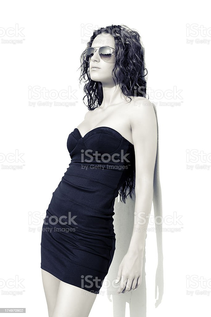 Woman in blue stock photo
