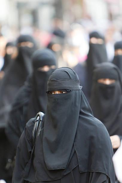 Frau mit burka – Foto