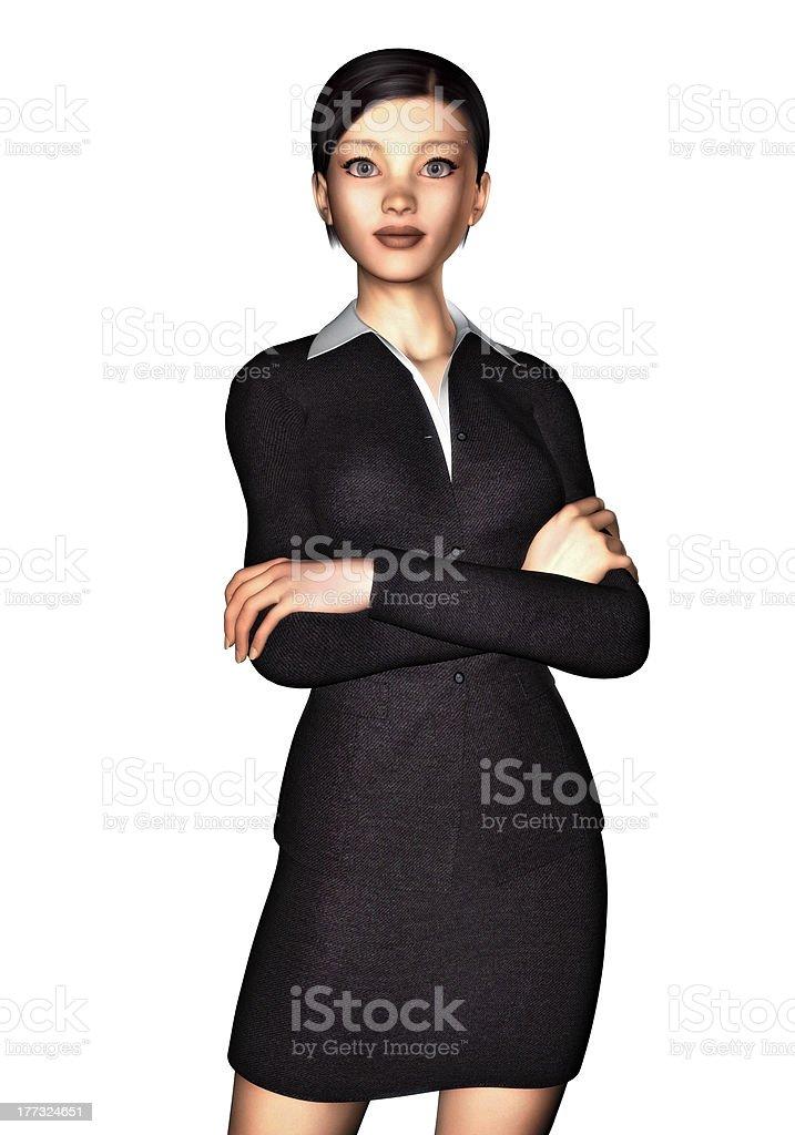 Frau in business Kleid, weißer Hintergrund 4 – Foto