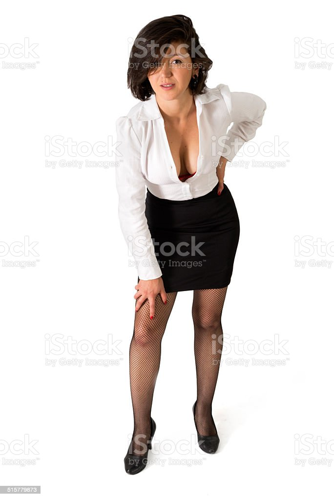 Woman in Business Outfit stock photo