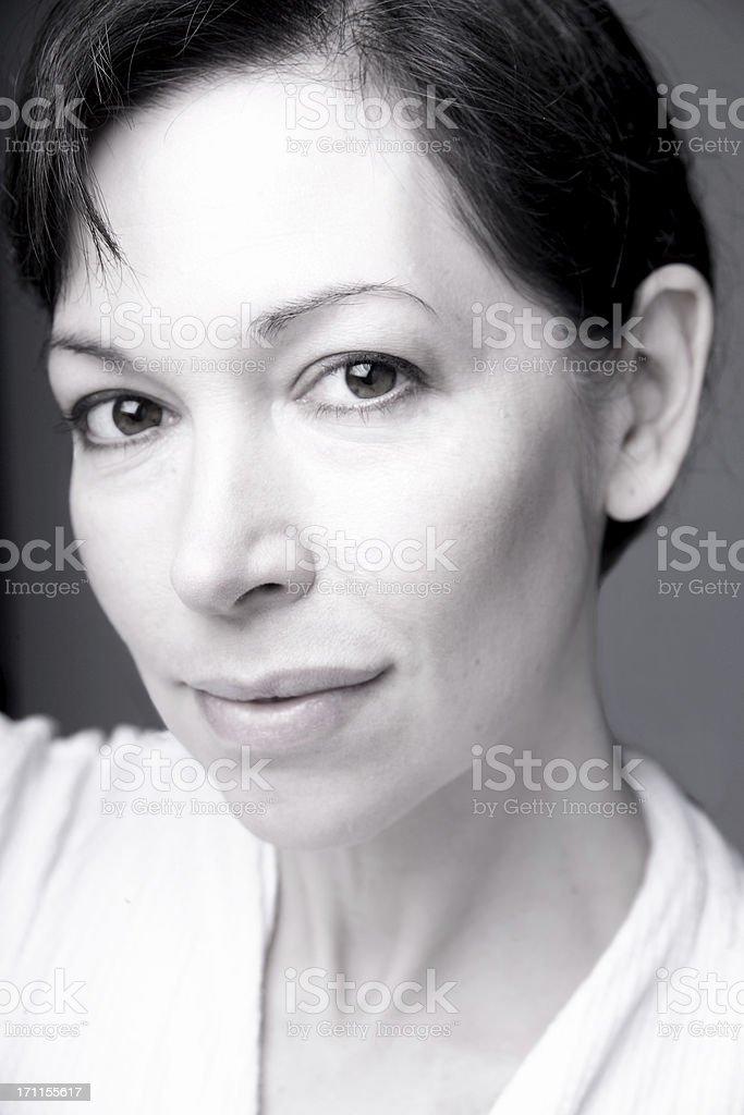 woman in b&w royalty-free stock photo