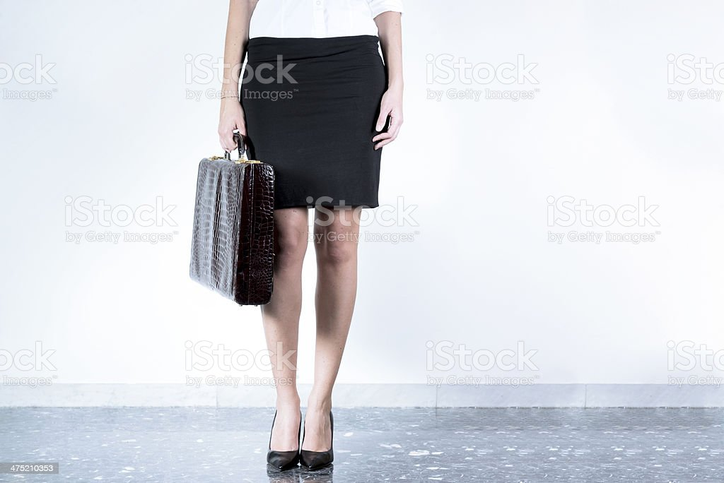 Woman in carrer legs stock photo