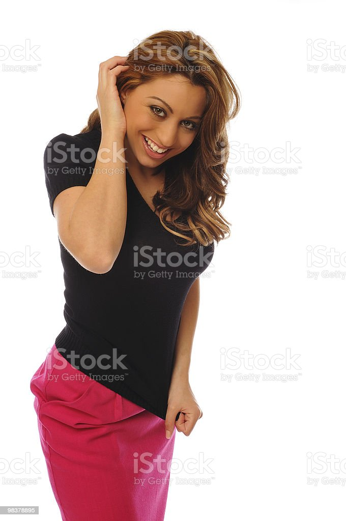 woman in casual fashion royalty-free stock photo