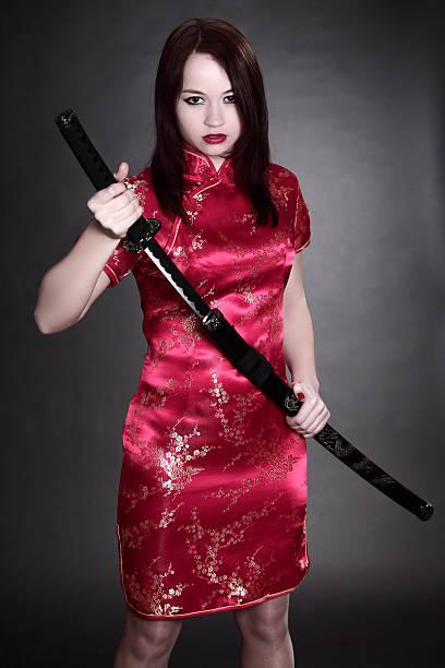 Frau in chinesische Kleid – Foto