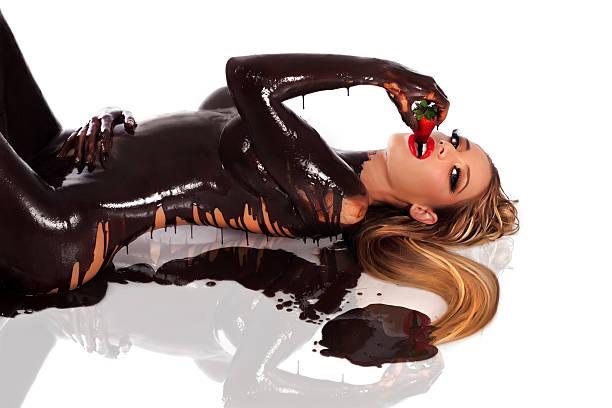 Naked chocolate women #5