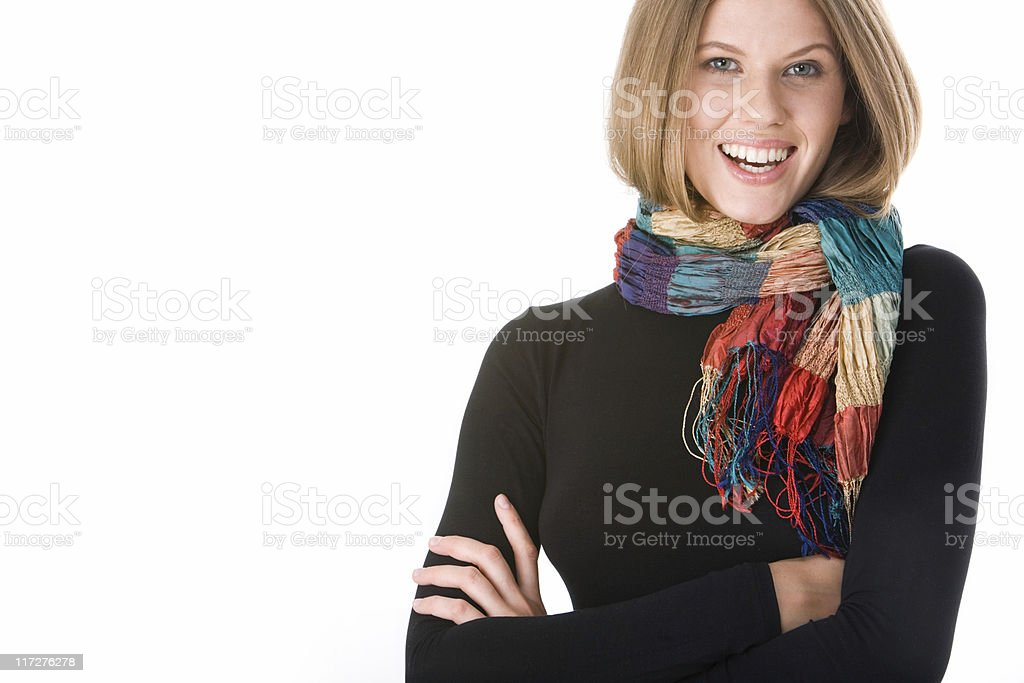 Woman in clothes stock photo