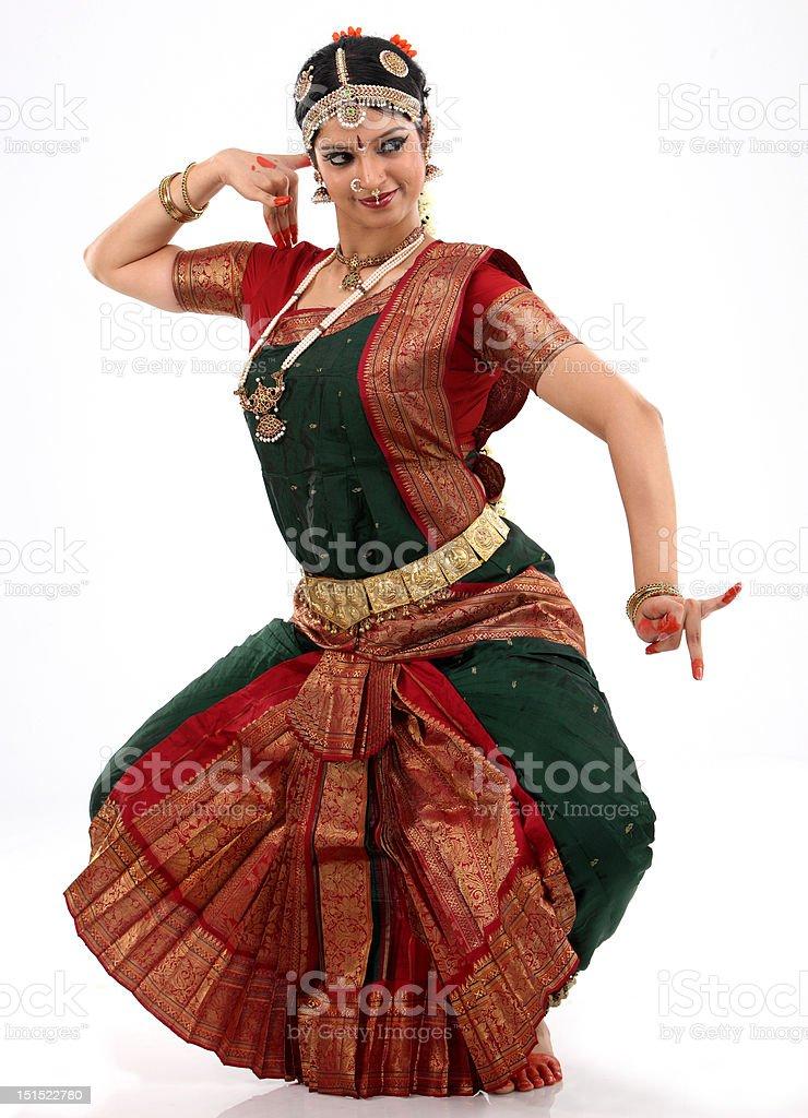 woman in  dance posture stock photo