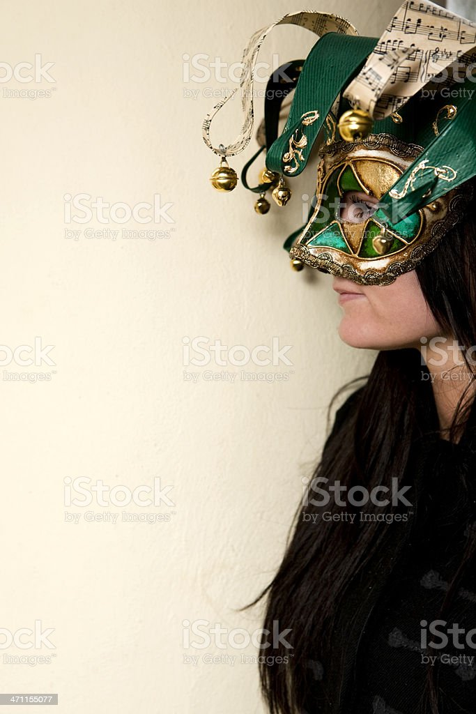 Woman in disguise stock photo