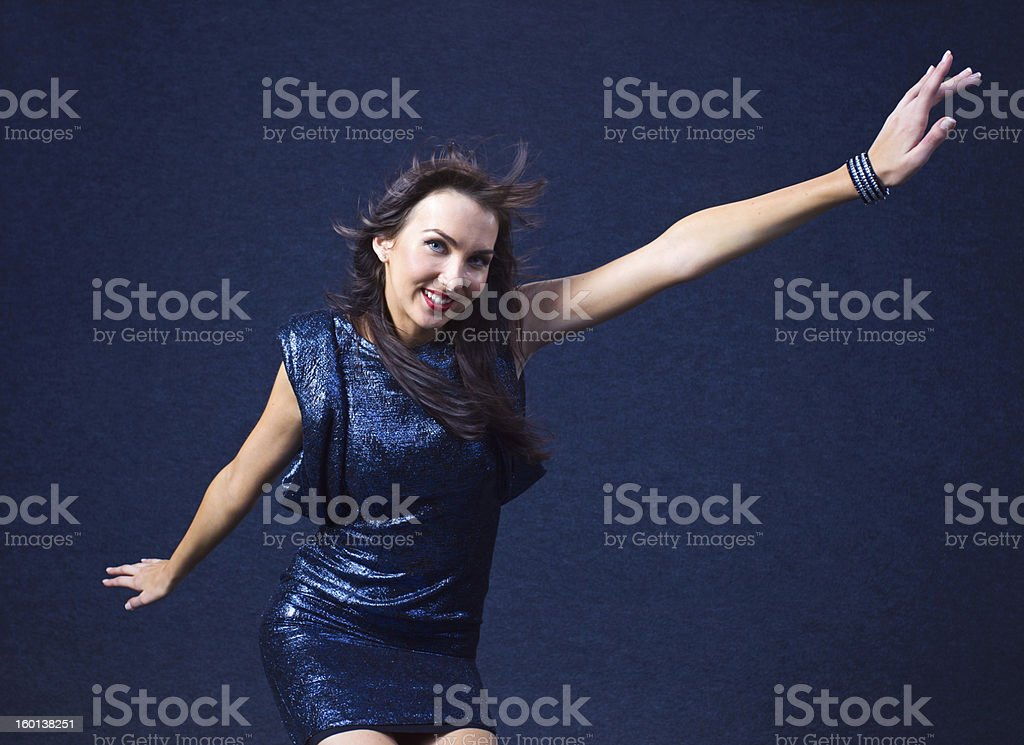 woman in evening dress royalty-free stock photo