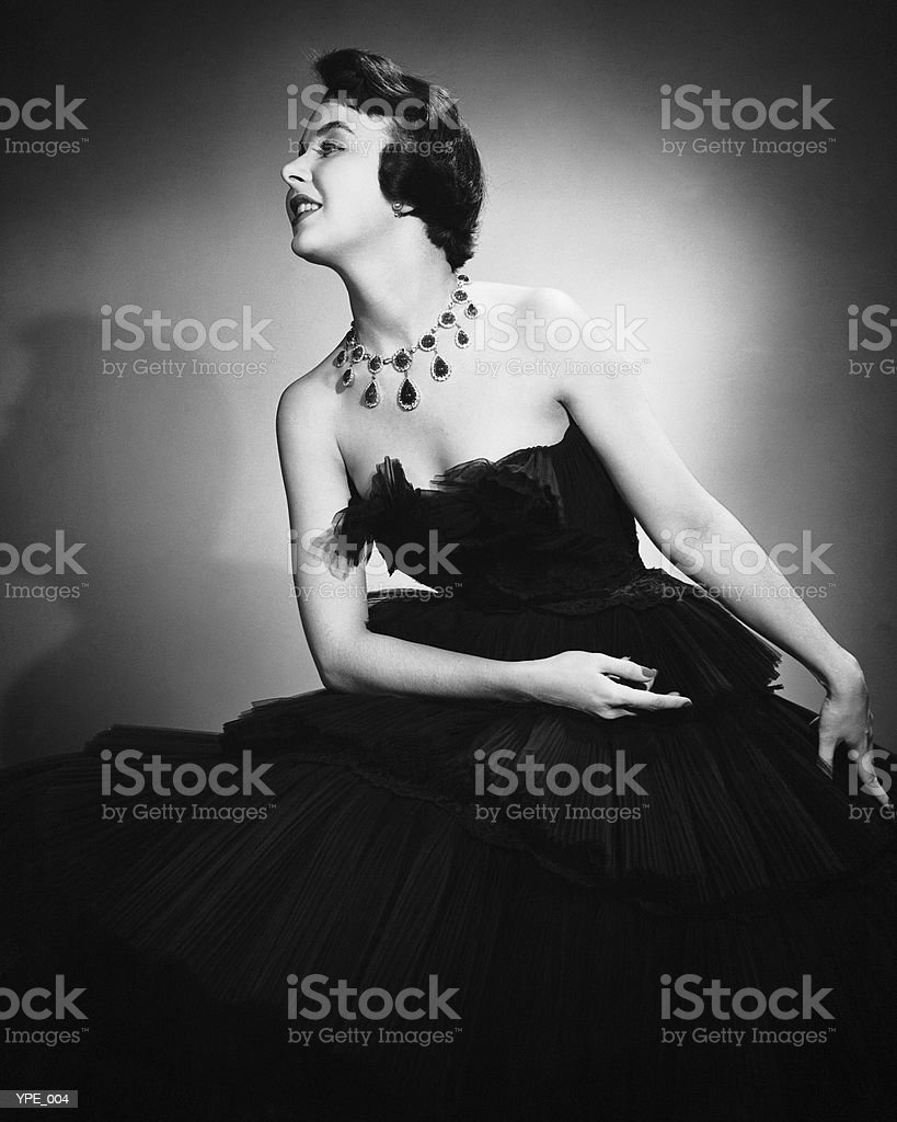 Woman in formal dress royalty-free stock photo