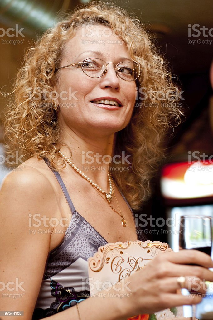 Woman in glasses royalty-free stock photo